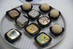 Kézműves bonbonok egyedi logóval Desserts, Food, Postres, Deserts, Hoods, Meals, Dessert, Food Deserts