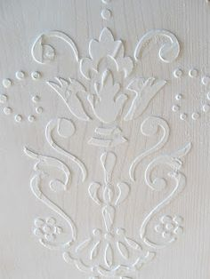 diy how to create a raised embossed venetian plaster finish on walls or furniture - Wall Plastering Designs