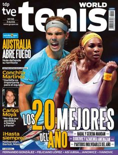 Players of the Year: Rafael Nadal and Serena Williams are on the cover of Tenis World Magazine!