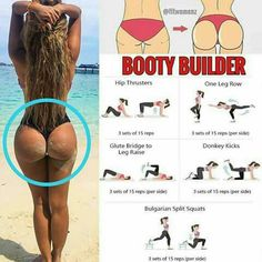 Home Butt Workout – Full Length 15 Minutes Fitness Workouts, At Home Workouts, Fitness Tips, Reto Fitness, Body Fitness, Health Fitness, Fit Girl Motivation, Fitness Motivation, Bum Workout