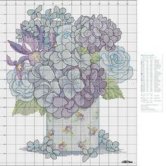 Portale Punto croce: Blue Bouquet