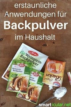 15 ungewöhnliche Anwendungen für Backpulver Baking soda is not only good for baking, there are also many surprising but very useful household uses for the [. Baking Powder Uses, Baking Soda Uses, Teeth Cleaning, Cleaning Hacks, Baking Soda Drain Cleaner, Arm And Hammer Baking Soda, Genius Ideas, Crafts For Teens To Make, Kitchen Hacks