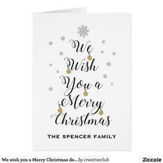 We wish you a Merry Christmas design #merrychristmas #card #greeting #happyholidays