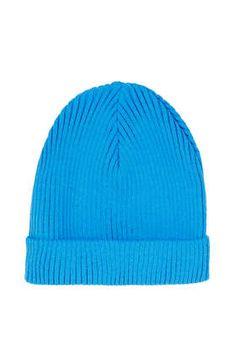 Blue Turnup Beanie Hat