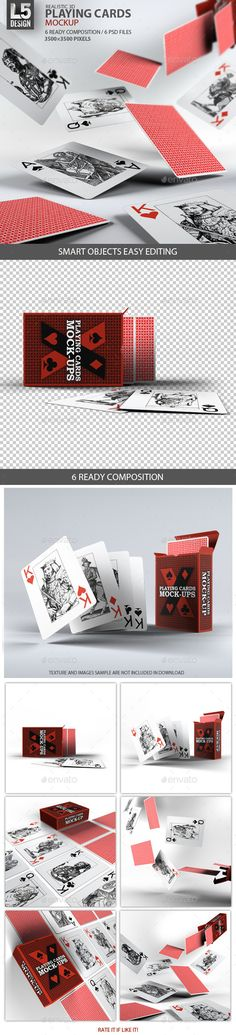 Playing Cards / Card Box Mock-Up | #playingcardsmockup | Download: http://graphicriver.net/item/playing-cards-card-box-mockup/9250742?ref=ksioks