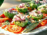 Grilled Avocado, Tomato, Red Onion Salad Recipe : Michael Chiarello : Recipes : Food Network