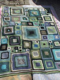 Squares afghan