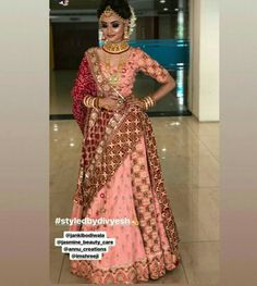 Rajasthani Lehenga, Indian Bridal Lehenga, South Indian Bridal Jewellery, Indian Bridal Fashion, Latest Bridal Dresses, Bridal Outfits, Chania Choli, Bridal Hairstyle Indian Wedding, Net Gowns
