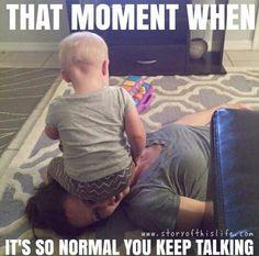 True. Mom