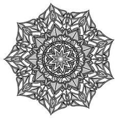 Mandala, Pattern, Geometry, Black