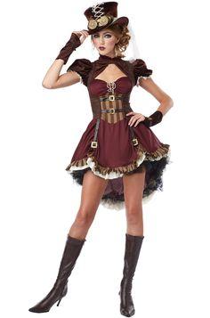 Steampunk Girl Teen Costume #Halloween #steampunk #costumes