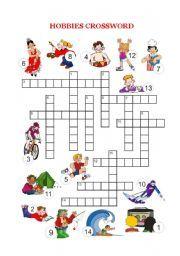 English worksheet: Free time and hobbies - Crossword