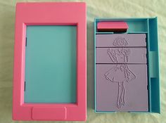 Vintage Hasbro Travel Fashion Plates + Crayon Holder Design Rub Color - I had one of these, I played with it for hours!