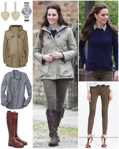 "2,137 Likes, 11 Comments - Catherine Duchess Of Cambridge (Kate Obrien) on Instagram: ""For today's farm visit, The Duchess wore all familiar items.  Kate wore her Troy London jacket that…"""
