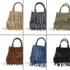 Handtasche mit Wildleder-Fransen