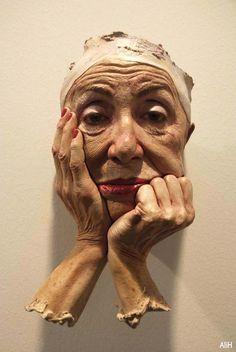 Rostro de mujer maquillada, Marc Sijan