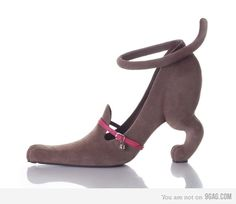 Hmmm, are these cat shoes, dog shoes, mouse shoes? And what would you wear these with? Puppy Shoes, Cat Shoes, Shoe Boots, Shoes Heels, Dress Shoes, Creative Shoes, Unique Shoes, Creative Design, Crazy Heels