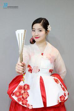 """TWICE • Dahyun • Princess in a hanbok • """"ONCE a fan, TWICE the fun"""" #Kpoplove #TWICE #JYP"""