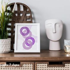 Bring some fresh colors to your home! #lilac #poster #homedecoration