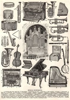 Sweetly Scrapped: Musical Instruments Clilpart - Vintage