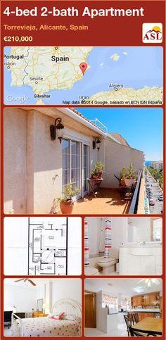 4-bed 2-bath Apartment in Torrevieja, Alicante, Spain ►€210,000 #PropertyForSaleInSpain