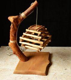 Wooden lamp Night lamp Art lamp Solid Wood Lamp by WoodRestart Driftwood Lamp, Willow Wood, Do It Yourself Furniture, Wooden Lamp, Night Lamps, Lamp Design, Handmade Wooden, Wood Crafts, Diy Desk