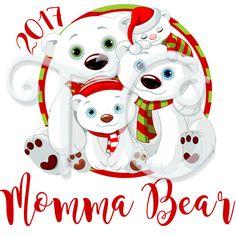 Polar Bear Family personalized Christmas shirt