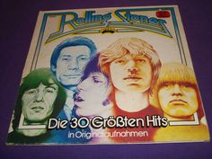 """Rolling Stones - 30 Greatest Hits - Two German Import 12"""" Vinyl LP Records - ADE G27"""