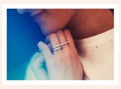 Two fingers rings : to wear on the middle