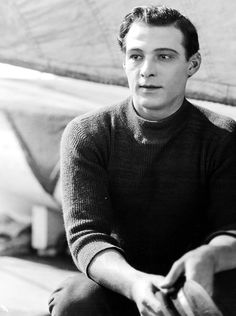 "Rudolph Valentino also know as ""Latin Lover"" was a famous silent movie star from the Hollywood Icons, Old Hollywood Glamour, Golden Age Of Hollywood, Vintage Hollywood, Hollywood Stars, Classic Hollywood, Silent Screen Stars, Silent Film Stars, Movie Stars"