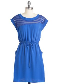 Ebb and Glow Dress. Like the ever changing tides, your style steadily evolves, never lingering on one look too long, youre always on the lookout for new ways to weave your wardrobe. #blue #modcloth
