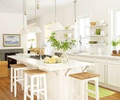 My next kitchen needs wood floors and white cabinets!