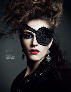 Danil Golovkin for Vogue Russia December 2012 - sexy eyepatch Vogue Uk, Vogue Russia, Jewelry Editorial, Editorial Fashion, Fashion Week, Look Fashion, Crazy Fashion, Fashion Glamour, High Fashion