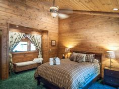Lassen Lodge: The 'Lookout' room named for the door leading to the roof top lookout!  VRBO # 479385 Hat Creek fishing lodge sleeps 14