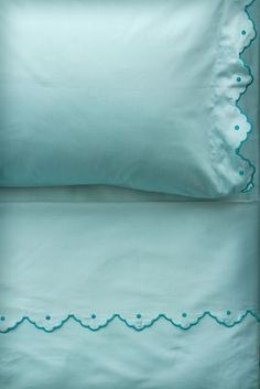 Anthropologie Scalloped Sheet Set | More here: http://mylusciouslife.com/luscious-bedrooms/