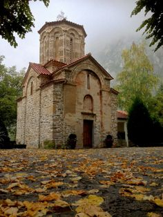 """Monastery """"Assumption of the Virgin"""" - Matka XIV s Skopje - Macedonia Church Architecture, Historical Architecture, Temple, Cardboard Castle, Abandoned Churches, Cult, Byzantine Art, Macedonia, Barcelona Cathedral"""