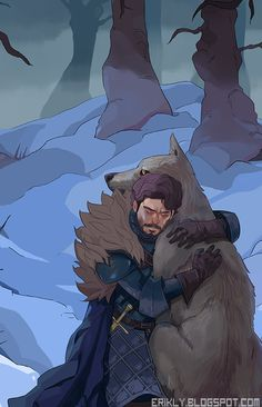 Robb Stark & Grey Wind - Game of Trones
