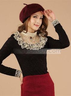 Fascinating Slim Long Sleeves Lace All-matched Base Shirt : Tidebuy.comhttp://www.tidebuy.com/product/Fascinating-Slim-Long-Sleeves-Lace-All-Matched-Base-Shirt-10785200.html