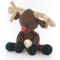 Rudolph the Reindeer amigurumi pattern by Woolytoons