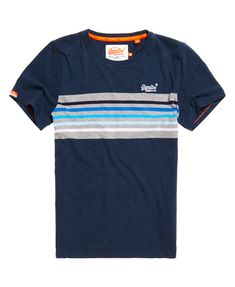 c64d5cf5e Mens - Orange Label Cali Surf Banner T-Shirt in Navy Marl