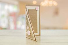 436372 - Offset Triangle by Tattered Lace from the Ultimate Card Shapes collection Shaped Cards, Triangle, Delicate, Gift Wrapping, Shapes, Lace, Design, Collection, Triangles