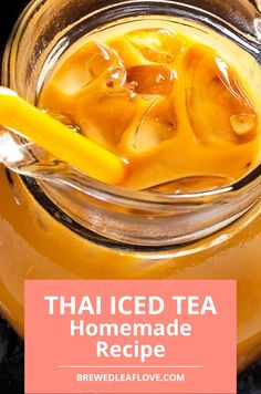 If you want to make thai iced tea authentic just like you get in a thai restaurant, you can DIY your own at home with this delicious thai iced tea recipe. Here's how to make authentic thai iced tea just like you get when you're at a thai restaurant. Milk Tea Recipes, Sweet Tea Recipes, Iced Tea Recipes, Spicy Recipes, Easy Recipe To Make At Home, Food To Make, Green Tea Drinks, Green Teas, Yummy Drinks