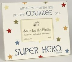 Superhero Bedroom frame one for each boy with his favorite superhero costume on!