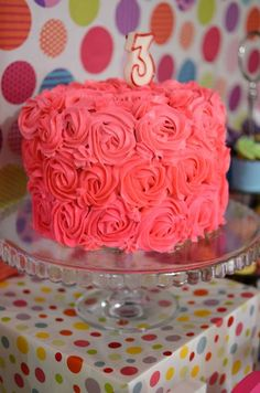 love this rosetta cake, maybe with a hello kitty on top?