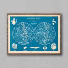 Planisphere Celeste Star Chart Sky Map Constellation by LegendCo