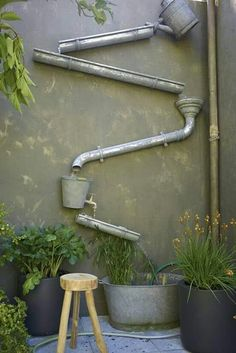 The water feature you have, when you really like, that rain on the roof, running into the gutters, trickling down the down water-pipes, sound!
