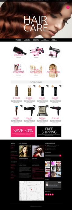 OpenCart Template , Hair Care