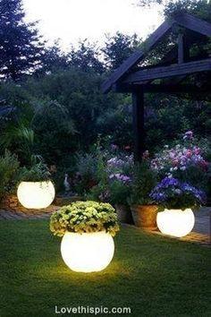 Glow in the Dark Paint night light home flowers garden yard glow diy pots