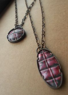 Oval Fold Formed Copper Necklace - Armor. $95.00, via Etsy.