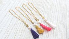 Gold bracelet Delicate gold bracelet chain Tassel by HLcollection
